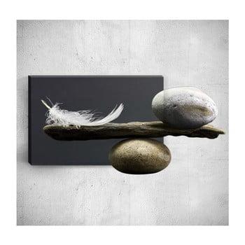 Tablou de perete 3D Mosticx Feather With Pebbles, 40 x 60 cm de la Mosticx