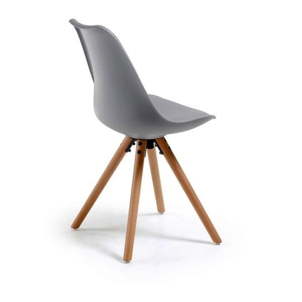 Scaun cu picioare din lemn de fag loomi.design Lumos, gri