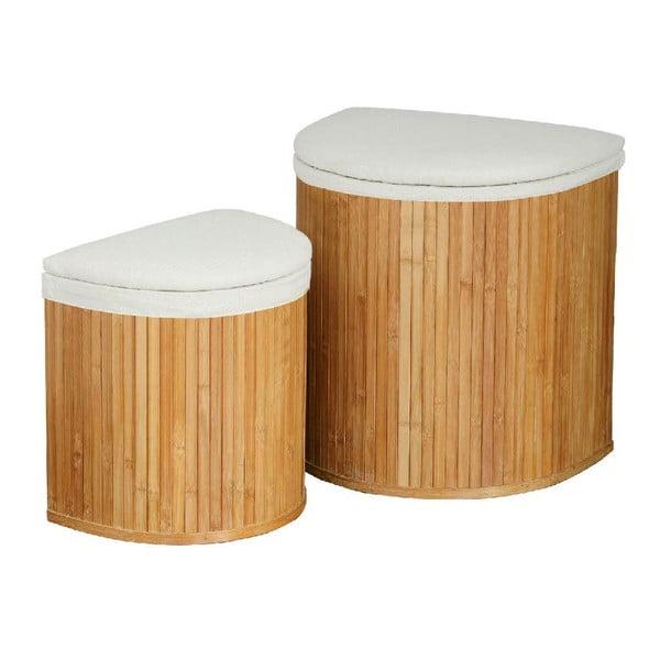 Set 2 košů na prádlo Bamboo I