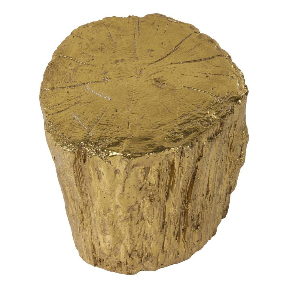 Stolička ve zlaté barvě Kare Design Tronco, ⌀ 40 cm