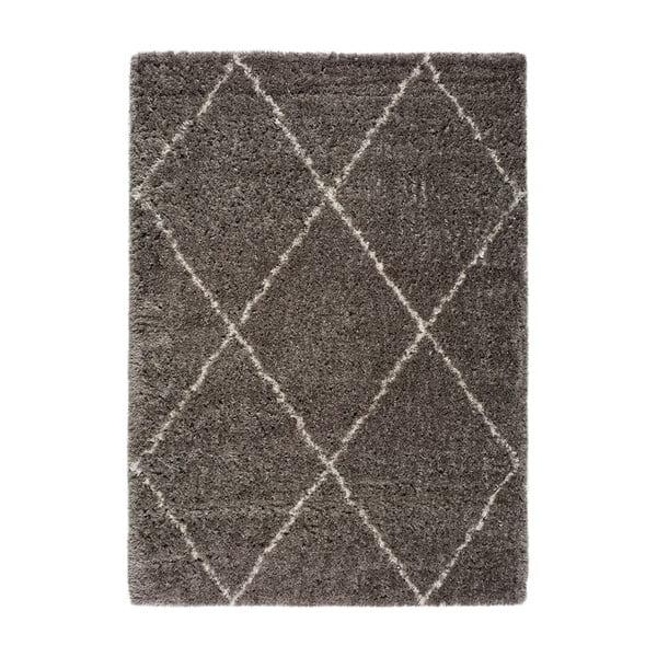 Šedý koberec Universal Lynn Lines, 135 x 190 cm