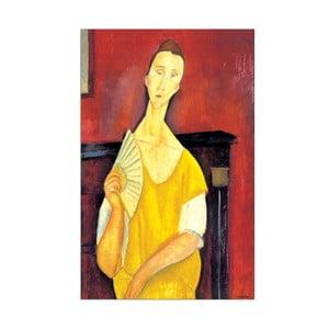 Obraz Modigliani - Woman with a fan, 64x100 cm