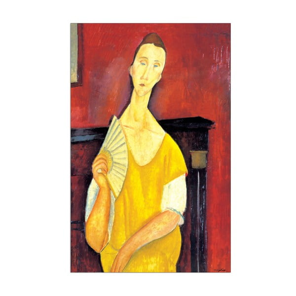 Obraz Modigliani - Woman with a fan, 64x100 cm