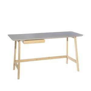 Šedý psací stůl Ixia Nórdico