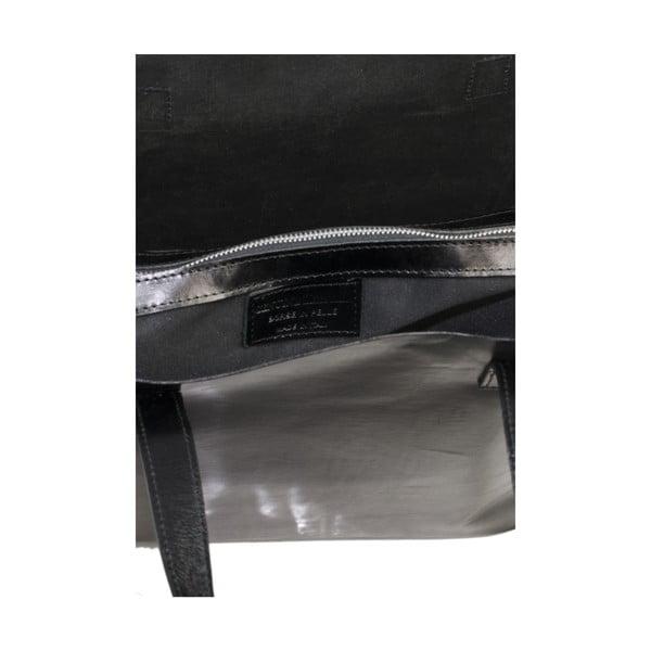 Černá kožená kabelka Markese 8768