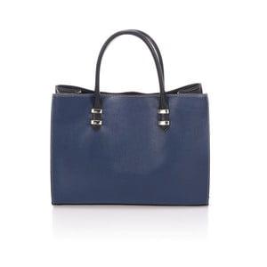 Modrá kožená kabelka Massimo Castelli Hecuba