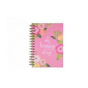 Růžový zápisník Tri-Coastal Design Gardening