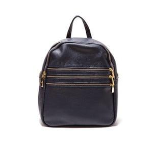 Tmavě modrý kožený batoh Roberta M Dulce