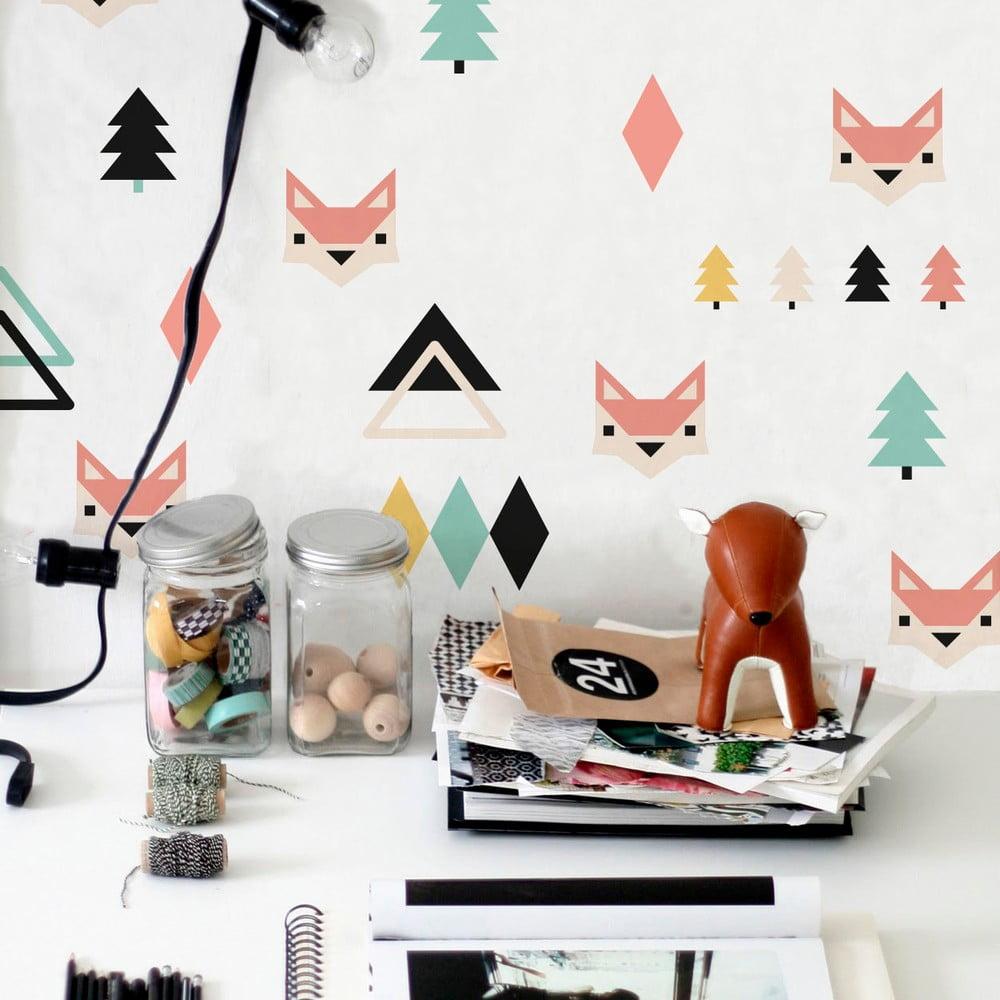 vinylov samolepka na st nu little nice things foxes bonami. Black Bedroom Furniture Sets. Home Design Ideas