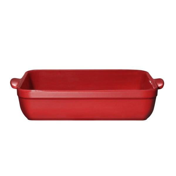 Červený pekáč na lasagne Emile Henry, 42x28 cm
