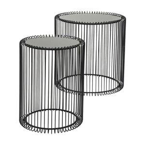 Set 2 măsuțe Kare Design Wire High, negru