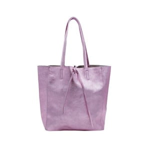 Růžovofialová kabelka z pravé kůže Andrea Cardone Larrito