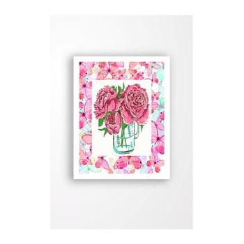 Tablou pe pânză în ramă albă Tablo Center Cut Roses, 29 x 24 cm de la Tablo Center
