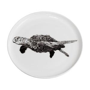 Dezertní talířek z kostního porcelánu Maxwell&Williams Marini Ferlazzo Sea Turtle, ⌀ 20 cm