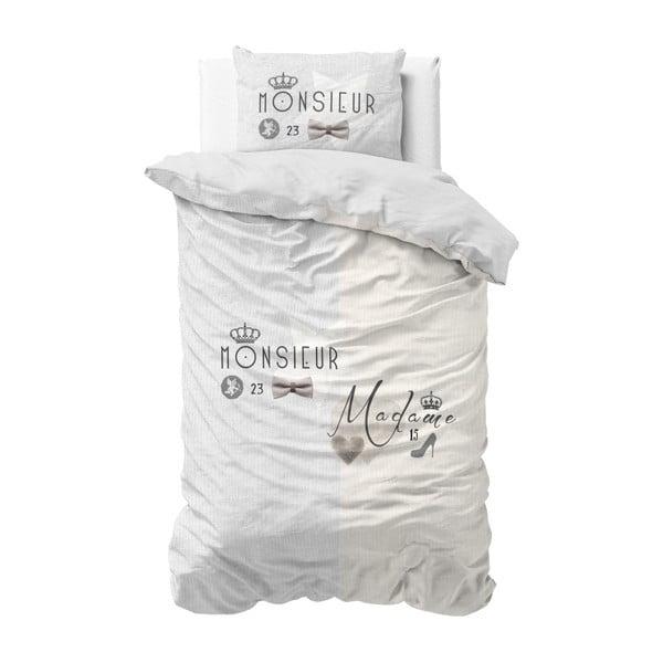 Bawełniana pościel jednoosobowa Sleeptime French, 140x220 cm