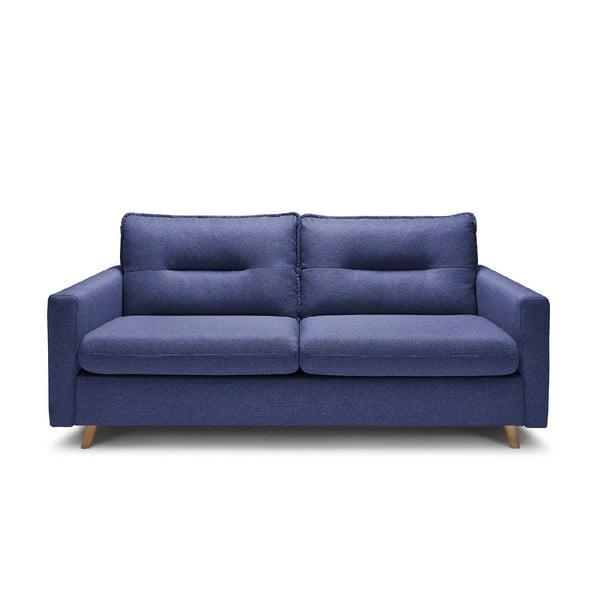 Modrá třímístná rozkládací pohovka Bobochic Paris Sinki