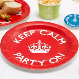 Sada 8 papírových talířů Neviti Keep Calm