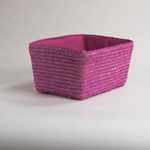 Růžový úložný košík z pšeničného výpletu Compactor Hawai, šířka32cm