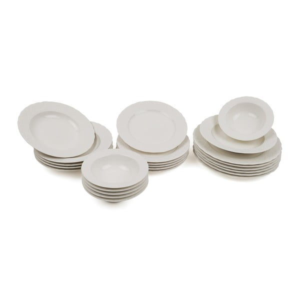 24dílná sada porcelánového nádobí Kutahya Muliya