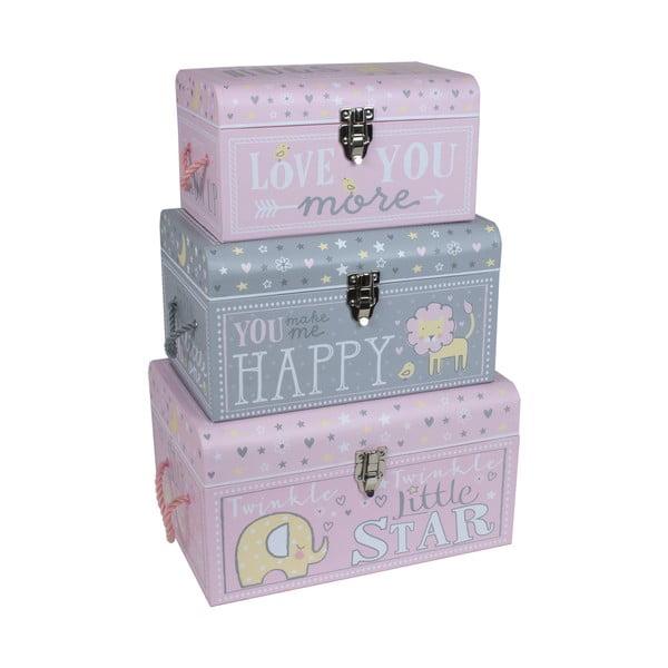 Sada 3 dětských krabiček Little Star