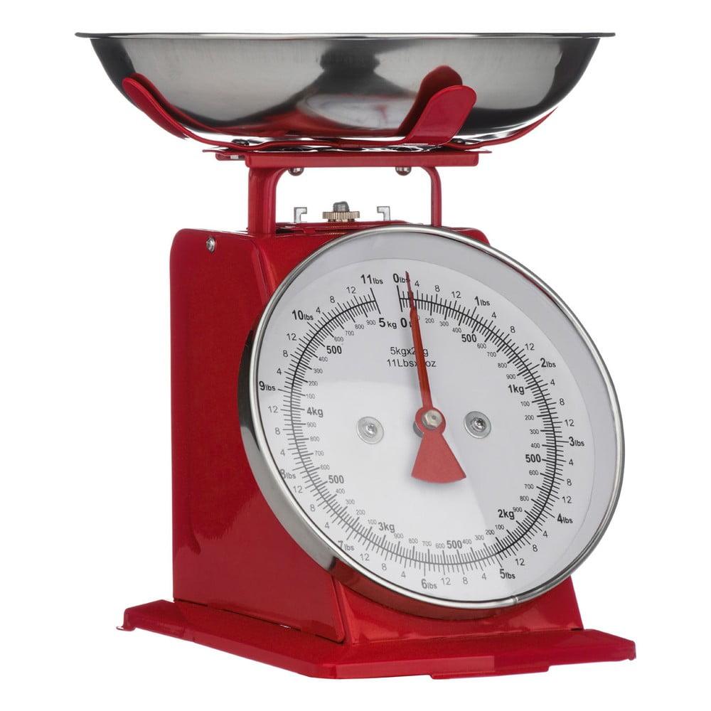 Červené kuchyňské váhy Premier Housewares, 22 x 26 cm