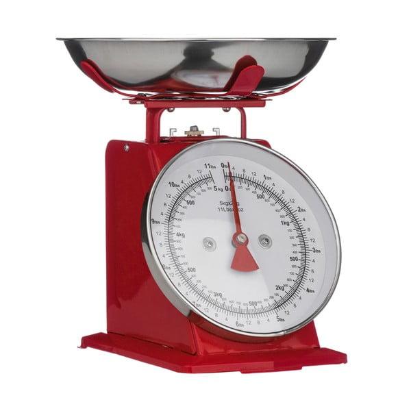 Piros konyhai mérleg, 22 x 26 cm - Premier Housewares
