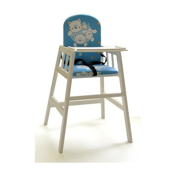 Biela drevená detská jedálenská stolička Faktum Abigel