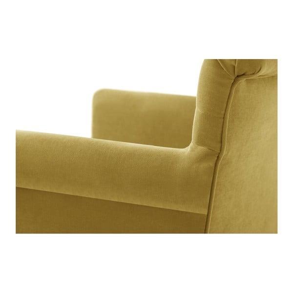 Scaun din lemn de fag Ted Lapidus Maison Flacon cu picioare negre, galben