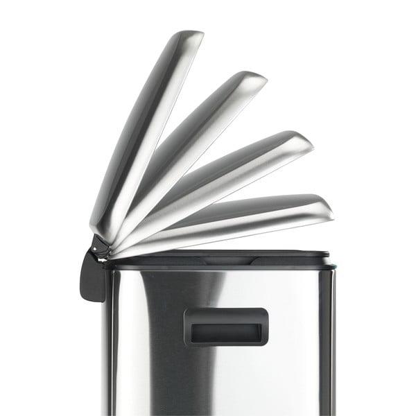 Dvojitý nerezový pedálový odpadkový koš Wenko, 2x20l