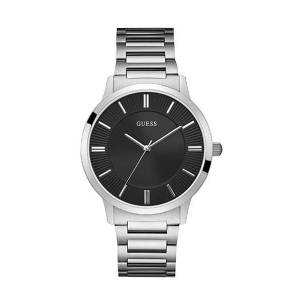Pánske hodinky s antikoro remienkom v striebornej farbe Guess W0990G1