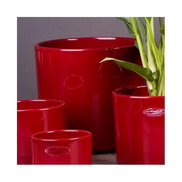 Květináč Ovale červený, 19 cm