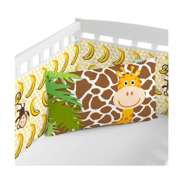 Textilní ohrádka na postýlku Little W Jungle, 210x40 cm