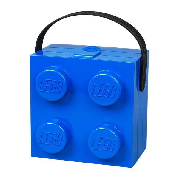 Niebieski pojemnik z uchwytem LEGO®