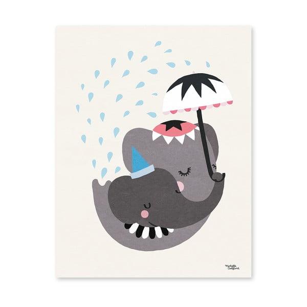 Plakát Michelle Carlslund Elephant Love, 30x40cm