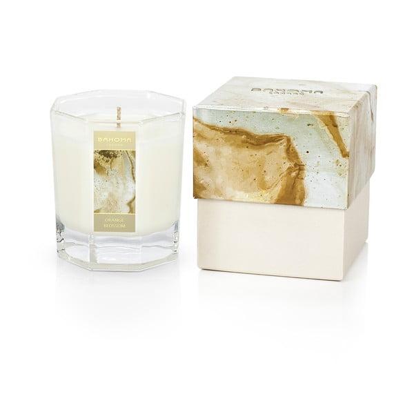Lumânare parfumată în cutie cu aromă de frezii și ylang-ylang Bahoma London Octagonal Candle in Rigid Box