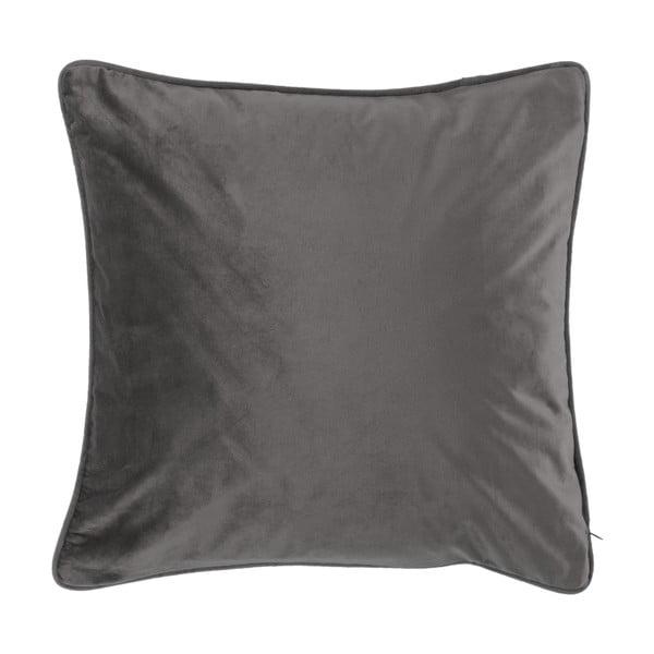 Tmavě šedý polštář Tiseco Home Studio Velvety, 45x45cm