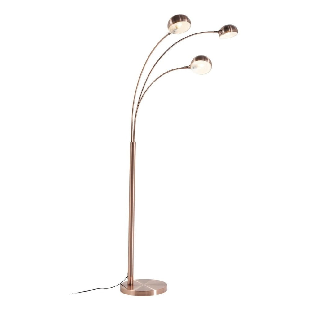 Stojací lampa v měděné barvě Kare Design Three Fingers