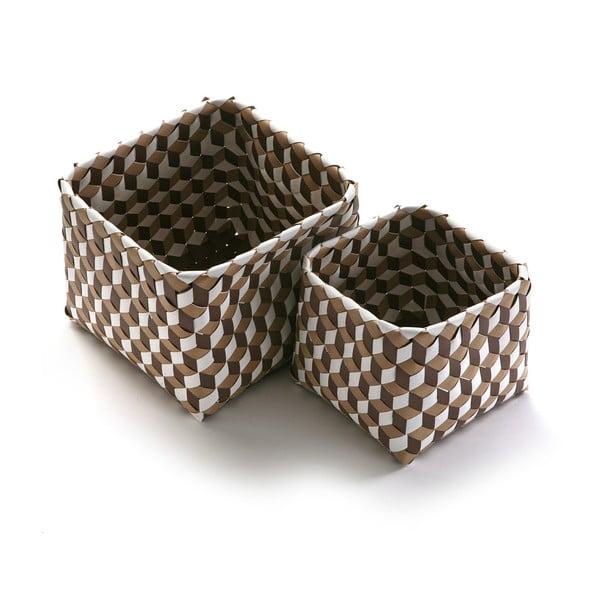 Sada 2 hnědých košíků Versa Baskets Small
