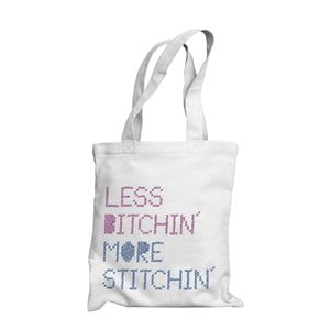 Taška Less bitchin, more stitchin
