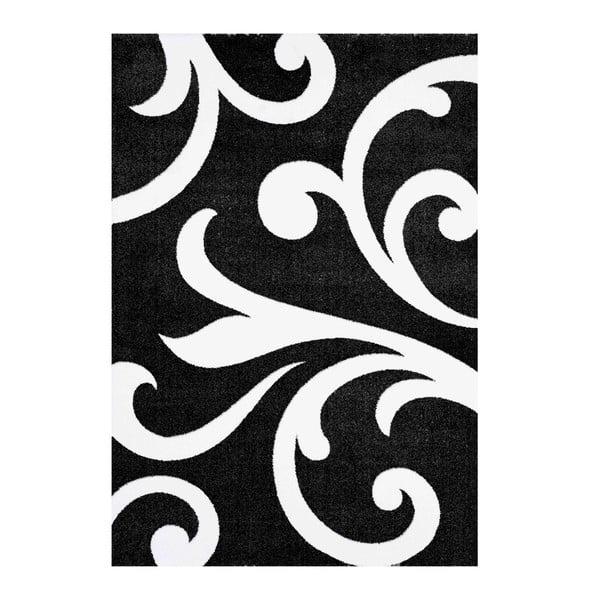 Damasko fekete szőnyeg, 140 x 190cm - Tomasucci