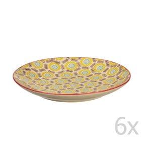 Sada 6 talířů Fifties, 20 cm