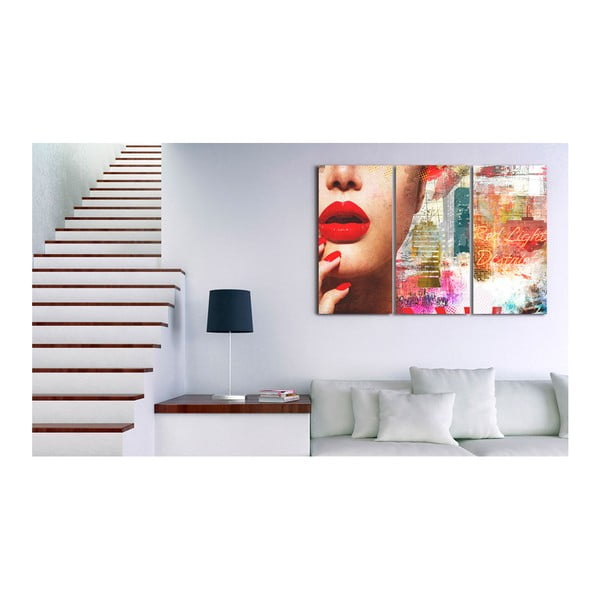 Vícedílný obraz na plátně Artgeist Red Light District, 60 x 40 cm