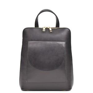 Černý kožený batoh Anna Luchini Songe