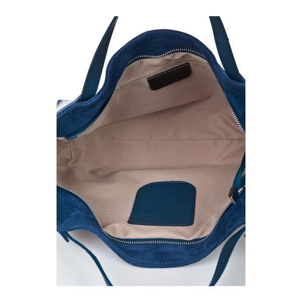 Modrá kožená kabelka Giorgio Costa Matt