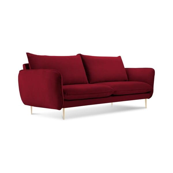 Červená pohovka se sametovým potahem Cosmopolitan Design Florence