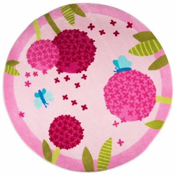 Dětský koberec Polen Pink, ⌀ 133cm