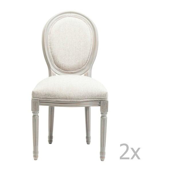 Sada 2 šedých jídelních židlí Kare Design Loius