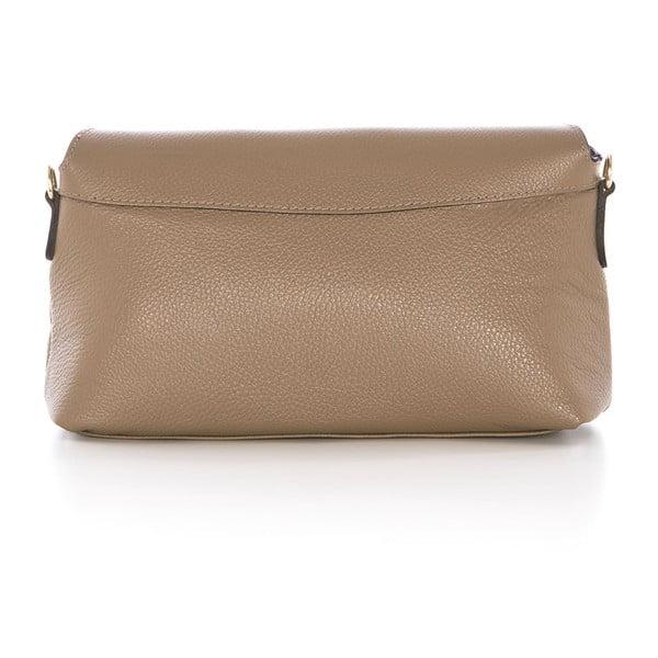 Béžová kožená kabelka Federica Bass Dione