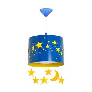 Modré závěsné svítidlo Glimte Stars Big