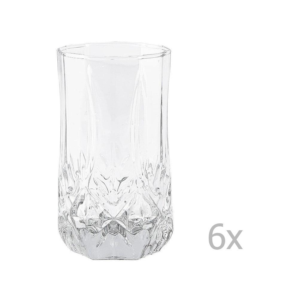 Sada 6 sklenic KJ Collection Glass, 240 ml